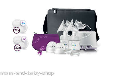 Philips Avent Comfort Double Electric + Manual Breast Pump Milk Bottle Scf334/14
