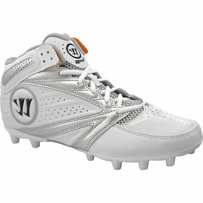 Warrior Men's Second Degree 3.0 White/Silver Lacrosse Cleats Shoes 7.5 - NEW