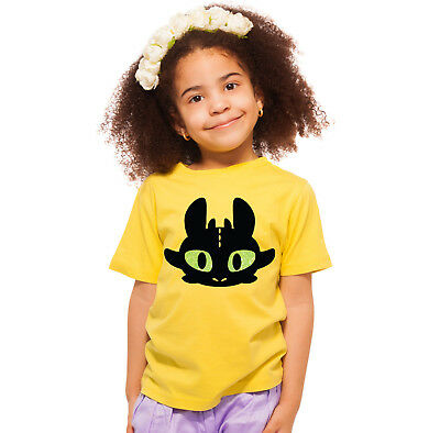 Train your dragon TOOTHLESS children t-shirt with glitter eyes. Amazing!