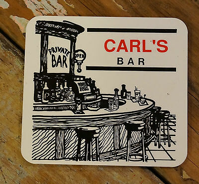 Personalised Black And White Timber/cork Name Bar Coasters