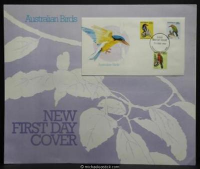 Australia Post display sheet - Australian Birds FDC