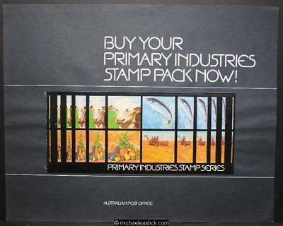 Australia Post display sheet - Primary Industries Stamp Pack 1972