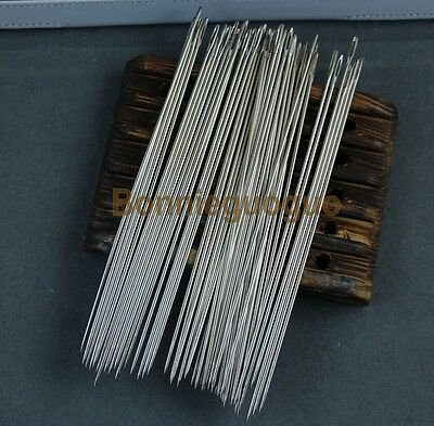 """50x 6"""" Long Simple Needles Large Eye Needle for Sewing Act Crafts, Upholster"""