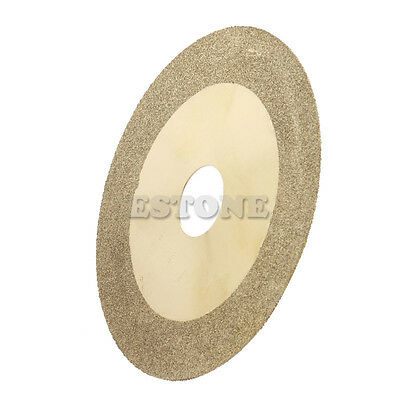 100mm 4'' Diamond Coated Flat Wheel Disc Glass Stone Grinding Cutting Tool New