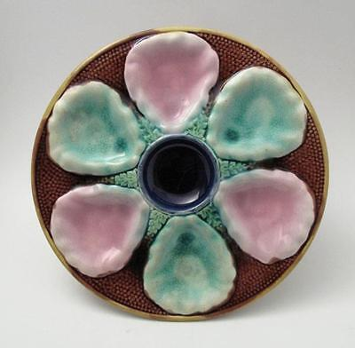 Antique Majolica Sea Shell & Seaweed Oyster Plate