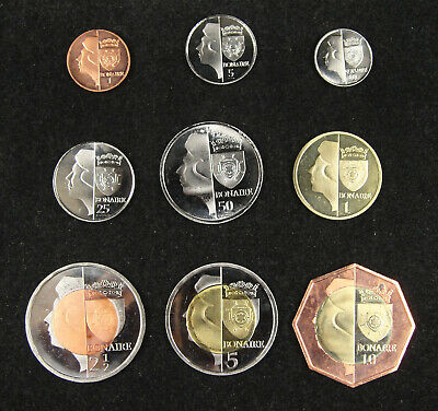 NETHERLANDS Bonaire Coins Set of 9 Pieces 2012, Fantasy Coinage