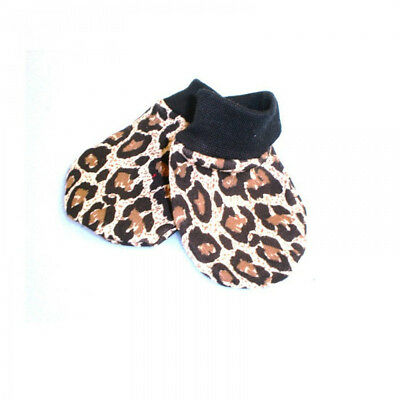 Leopard Print Mittens Baby Newborn Gift Gloves Cute Rockabilly Punk Alternative