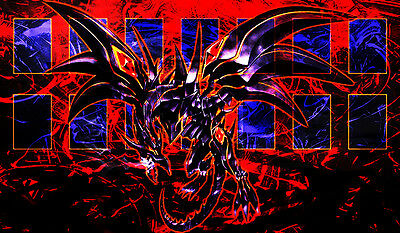 F102 Free Mat Bag Yugioh Playmat Red-Eyes Darkness Dragon Mat Card Zone