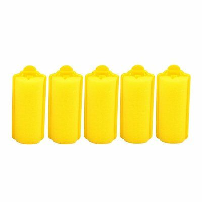 36 yellow foam hair rollers - free postage