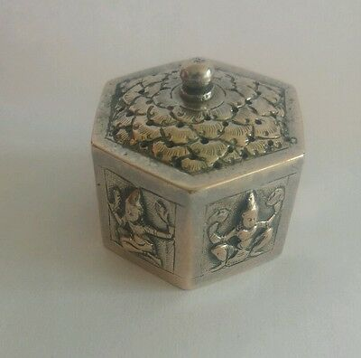 Antique Siam Niello Pomander Vinaigrette box