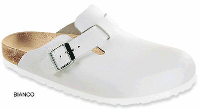 Birkenstock Boston Originale Bianco Pelle 35-46