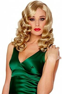 Costume Culture Women's Retro Glam Wig Deluxe, Mixed Blonde, One Size