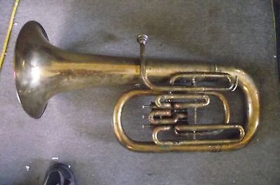 Antique Brass Conn Baritone Euphonium  3 Value Bell Up  #142624 W Case