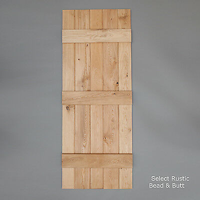 Bead & Butt - Solid Oak Internal Ledged Door - Cottage Door by Heritage