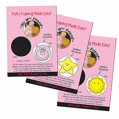 My Wee Friend Colour Changing Potty Training Aid Reward Stickers - Pack of 3