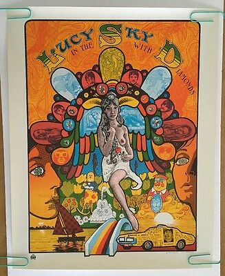 Lucy In The Sky With Diamonds Poster Vintage Beatles Pin-up Psychedelic 1960's