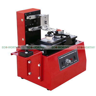 110V Electrical Pad Printer Ink Printing Machine  Approx 15 x 30 mm Max Size
