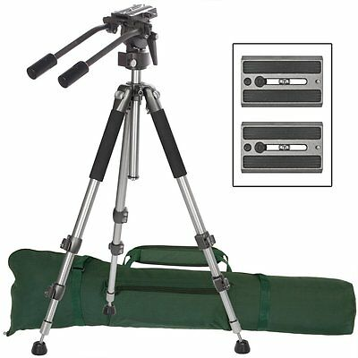 "Pro Heavyduty Lightweight Fluid Drag Head Pan SLR DSLR Video 71"" Tripod System"