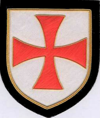 HRE Christian Medieval Knight Templar Order Crusades Patch Red War Cross Shield