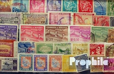 bolivia 50 different stamps