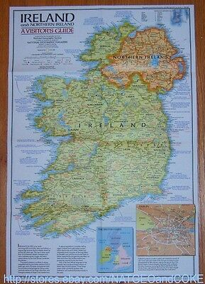 National Geographic MAP IRELAND Northern / Historic, A Visitor Guide APRIL 1981