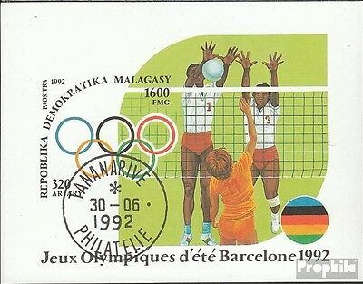 Madagascar block191 (complete issue) used 1992 olympic. Summer