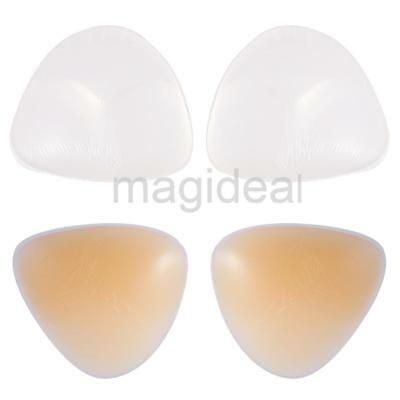 Womens Push Up Silicone Bra Inserts Breast Cleavage Chicken Fillets - Half Full