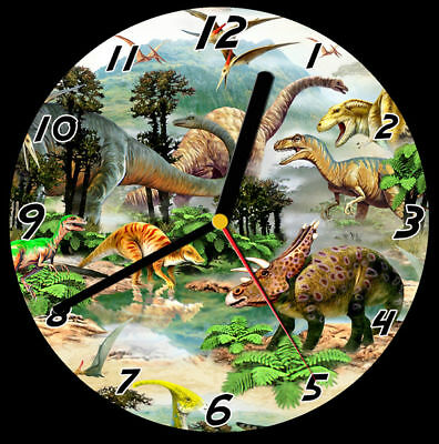 Dinosaurs CD Clock, can be personalised