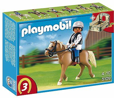 BNIB Playmobil 5109 HORSES Haflinger Horse with Rider and Stable