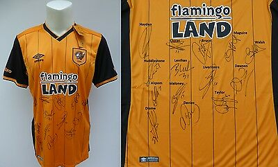2015-16 Hull City Home Shirt Signed by Squad - Play Off Winners (8339)