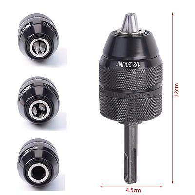 Pro Unique 13MM HSS Keyless Drill Chuck with SDS Adaptor Hardware Tool Part OC
