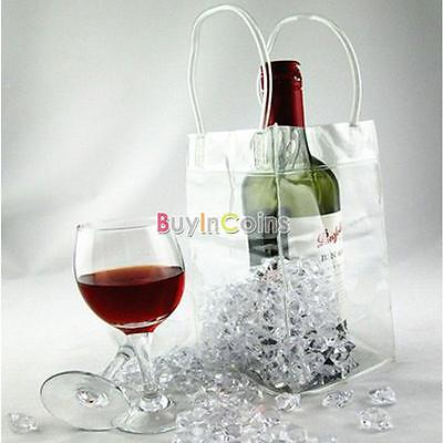 PVC Wine Bottle Cooler Chiller Gel Ice Cooling Bag For Home & Travel & Party New