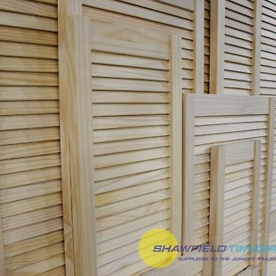 Single Louvre Door, Vented Open Slatted, Natural Pine, Wardrobe & Cabinet Doors