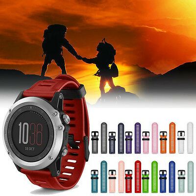 Soft Silicone Strap Replacement Sport Watch Band + Tools For Garmin Fenix 3 HR