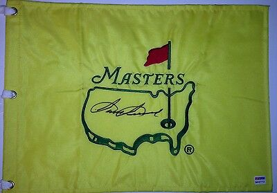 SAM SNEAD Signed Undated MASTERS Golf FLAG w/ PSA DNA