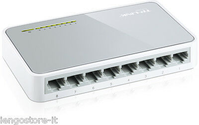 Hub Di Rete Switch Tp-Link Tl Sf1008D 10/100 Mbps Ethernet 8 Porte Bianco