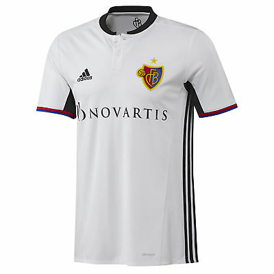 adidas Mens Gents Football Soccer FC Basel Away Shirt Jersey Top 2016-17