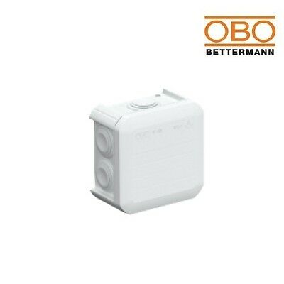OBO Bettermann Junction Box T40 90x90x52mm 2007 045 Light Grey IP55 2007045