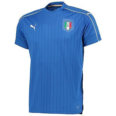 Puma Mens Gents Football Soccer Italy National Team Home Shirt 2016 Blue