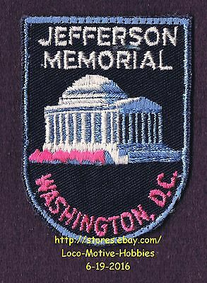 LMH PATCH Badge JEFFERSON MEMORIAL Thomas Presidential  WASHINGTON DC Pink Black