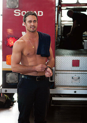 Chicago Fire Severide Taylor Kinney Topless Poster
