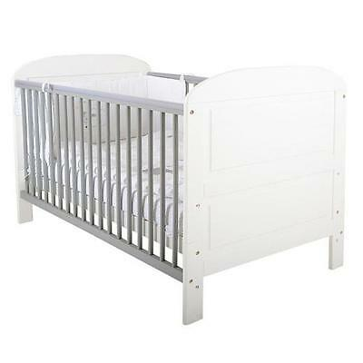 East Coast Angelina Cotbed - White/Grey