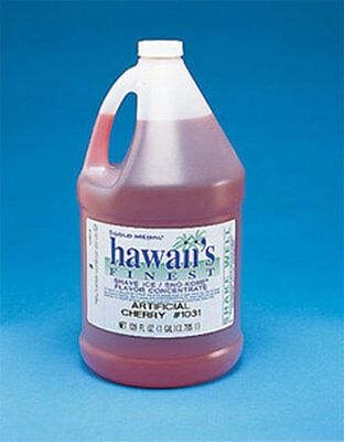 Snow Cone Shaved Ice Syrup Concentrate 1031GA Cherry Flavor 1 gal = 32 gallons