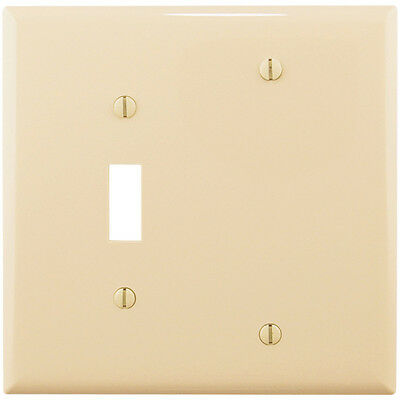 10 pc 2-Gang Wall Plate Cover Ivory Toggle Switch Blank Lexan Unbreakable Cover