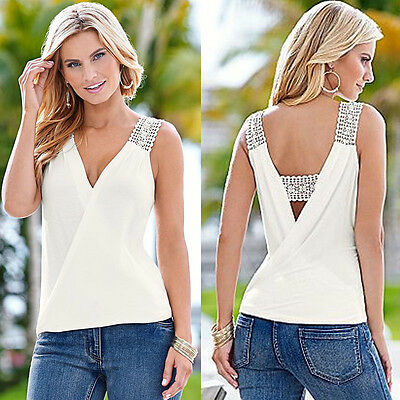 2016 Women Summer Fashion Vest Sleeveless Blouse Casual Tank Tops T Shirt Blouse
