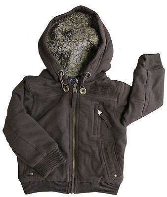 Timberland Hooded Brown Cardigan Kids Jacket Childrens T2D18 322 R19