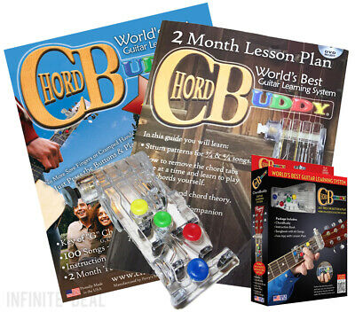 New CHORD BUDDY Guitar Learning System Teaching Practrice Aid CHORDBUDDY Lessons