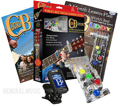 CHORD BUDDY Guitar Learning System Teaching Practrice Aid + DVD Book Lessons