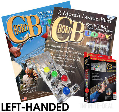 LEFT HANDED CHORD BUDDY Guitar Learning System Teaching AID CHORDBUDDY Lessons