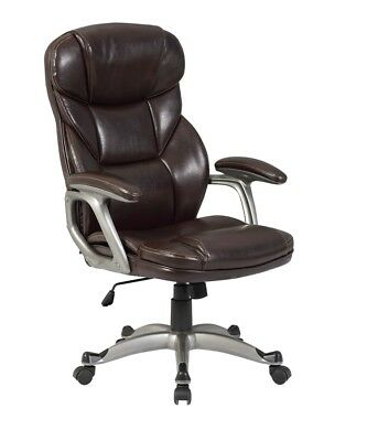 Modern High Back Mocha PU Leather Hydraulic Executive Comfortable Office Chair